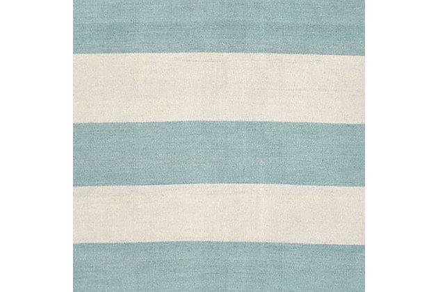 "Transocean Spencer Regatta Stripe Outdoor 3'6"" x 5'6"" Accent Rug, Blue, large"