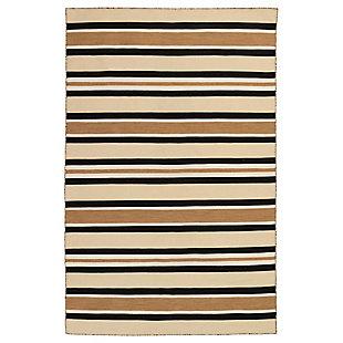 "Transocean Spencer Roman Stripe Outdoor 5' x 7'6"" Area Rug, Khaki, large"