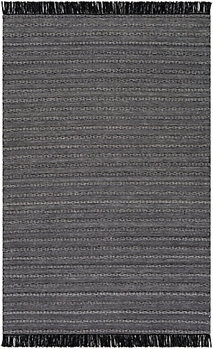 "Surya Azalea 5' x 7'6"" Area Rug, Medium Gray, large"