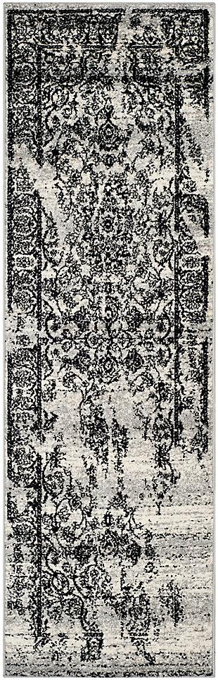 "Safavieh Adirondack 2' 6"" x 22' Area Rug, Silver/Black, large"