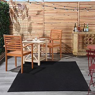 Nourison Essentials 5' x 7'  Outdoor Area Rug, Black, rollover