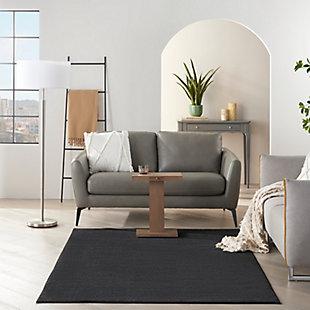 Nourison Essentials 5' x 7'  Outdoor Area Rug, Black, large