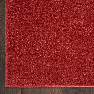Nourison Essentials 5' Square Accent Rug, Brick, large