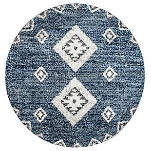 nuLOOM Transitional Regina Shag 4' x 6' Accent Rug, Blue, rollover