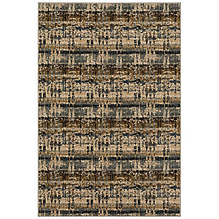 "Karastan Expressions by Scott Living Kaleidoscopic 5'3"" x 7'8"" Area Rug, Denim, large"