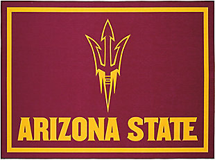 Addison Campus Arizona State 5' x 7' Area Rug, Maroon, large