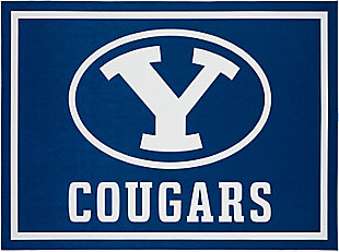 Addison Campus Brigham Young 5' x 7' Area Rug, Blue, large