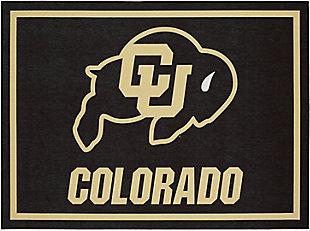 Addison Campus University of Colorado 5' x 7' Area Rug, Black, large