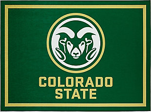 Addison Campus Colorado State 5' x 7' Area Rug, Green, large