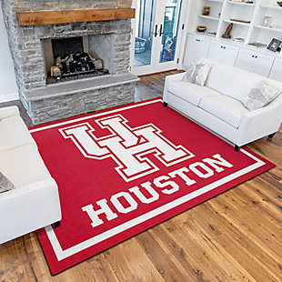 Addison Campus University of Houston 5' x 7' Area Rug, Red, rollover
