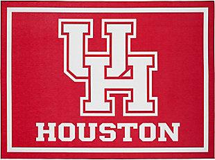 Addison Campus University of Houston 5' x 7' Area Rug, Red, large