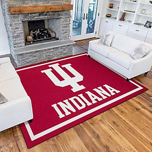 Addison Campus Indiana University 5' x 7' Area Rug, Crimson, rollover
