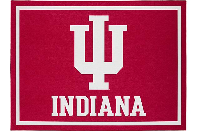 Addison Campus Indiana University 5' x 7' Area Rug, Crimson, large