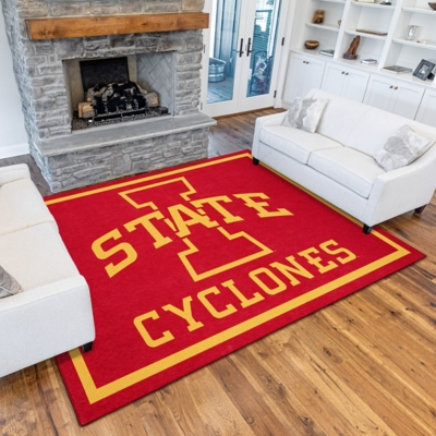 Addison Campus Iowa State 5' x 7' Area Rug, Red, large