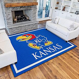 Addison Campus University of Kansas 5' x 7' Area Rug, Blue, rollover