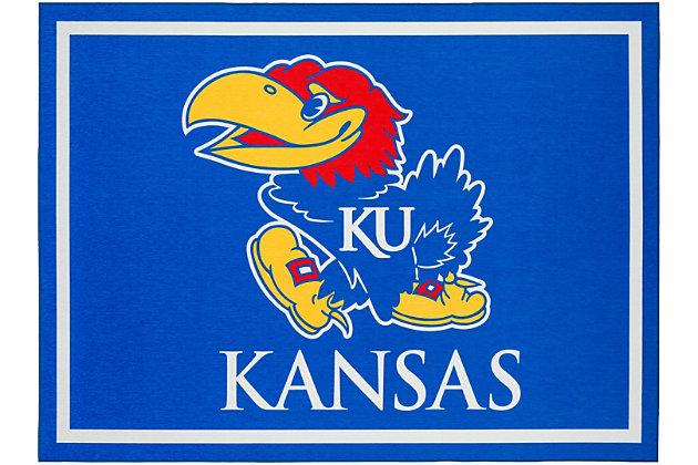 Addison Campus University of Kansas 5' x 7' Area Rug, Blue, large