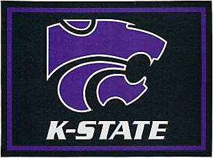 Addison Campus Kansas State 5' x 7' Area Rug, Black, large