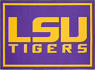 Addison Campus LSU 5' x 7' Area Rug, Purple, large