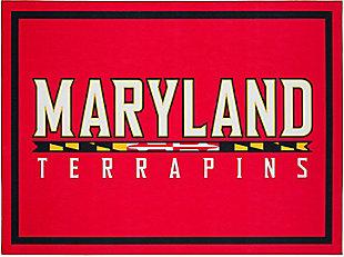 Addison Campus University of Maryland 5' x 7' Area Rug, Red, large