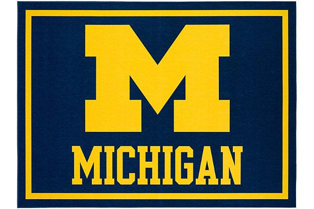 Addison Campus University of Michigan 5' x 7' Area Rug, Blue, large