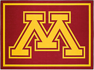 Addison Campus University of Minnesota 5' x 7' Area Rug, Maroon, large