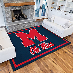 Addison Campus Ole Miss 5' x 7' Area Rug, Navy, rollover