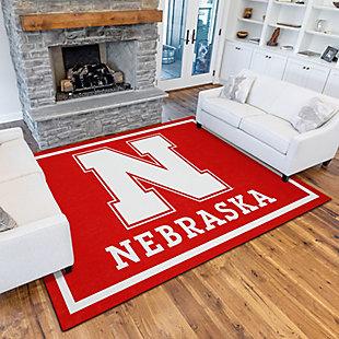 Addison Campus University of Nebraska 5' x 7' Area Rug, Red, rollover
