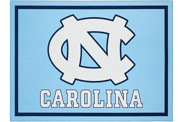 Addison Campus University of North Carolina 5' x 7' Area Rug, Blue, large