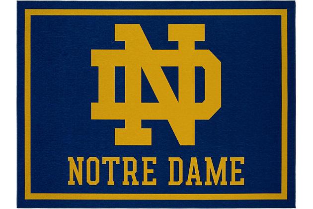 Addison Campus Notre Dame 5' x 7' Area Rug, Blue, large