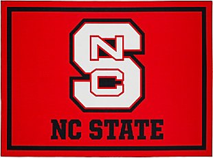 Addison Campus North Carolina State 5' x 7' Area Rug, Red, large
