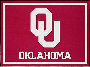 Addison Campus University of Oklahoma 5' x 7' Area Rug, Crimson, large
