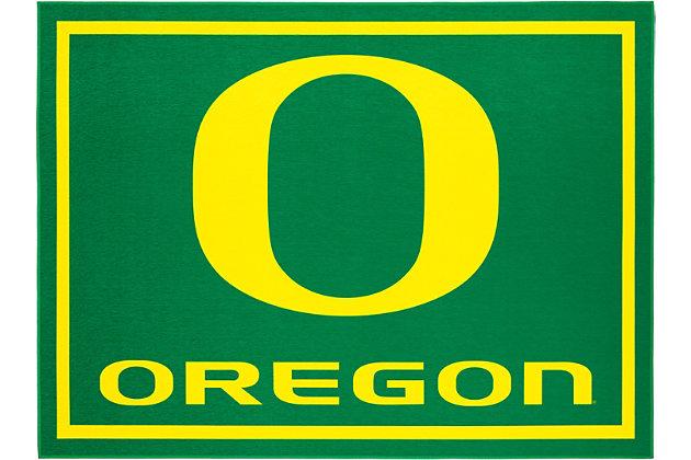 Addison Campus University of Oregon 5' x 7' Area Rug, Green, large