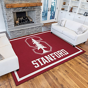 Addison Campus Stanford 5' x 7' Area Rug, Red, rollover