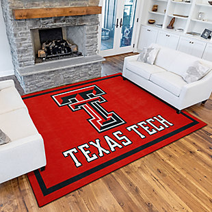 Addison Campus Texas Tech 5' x 7' Area Rug, Red, rollover