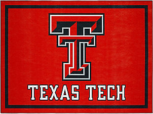 Addison Campus Texas Tech 5' x 7' Area Rug, Red, large