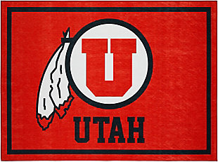 Addison Campus University of Utah 5' x 7' Area Rug, Red, large