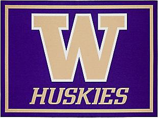 Addison Campus University of Washington 5' x 7' Area Rug, Purple, large