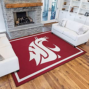 Addison Campus Washington State 5' x 7' Area Rug, Red, rollover