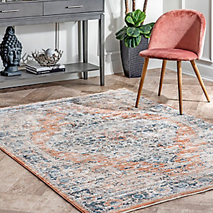 nuLOOM Piper Shaded Snowflakes 5' x 7' Area Rug, Beige, rollover