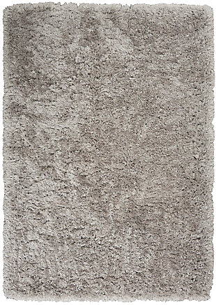 "Calvin Klein Moonwalk 5'3"" x 7'3"" Solid Indoor Rug, Silver, large"