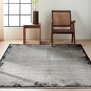 "Calvin Klein Balian 5'3"" x 7'3"" Indoor Rug, Gray/Black, rollover"
