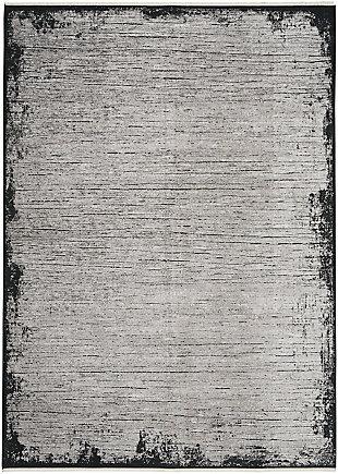 "Calvin Klein Balian 5'3"" x 7'3"" Indoor Rug, Gray/Black, large"