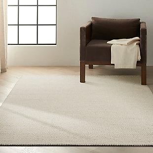 "Calvin Klein Textured Dots 5'3"" x 7'3"" Textured Indoor Rug, Cream, rollover"