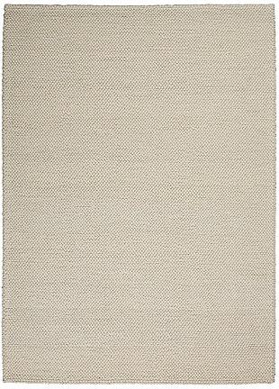 "Calvin Klein Textured Dots 5'3"" x 7'3"" Textured Indoor Rug, Cream, large"