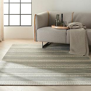 "Calvin Klein Maya 5'3"" x 7'5"" All-Over Design Indoor Rug, Dolomite, rollover"