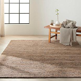 "Calvin Klein Mesa 5'6"" x 7'5"" All-Over Design Indoor Rug, Amber, rollover"