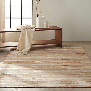 """Calvin Klein Prairie 5'6"""" x 7'5"""" All-Over Design Indoor Rug, Beige, rollover"""