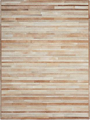 "Calvin Klein Prairie 5'6"" x 7'5"" All-Over Design Indoor Rug, Beige, large"