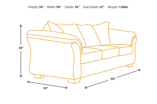 Couch Depth bladen sofa | ashley furniture homestore