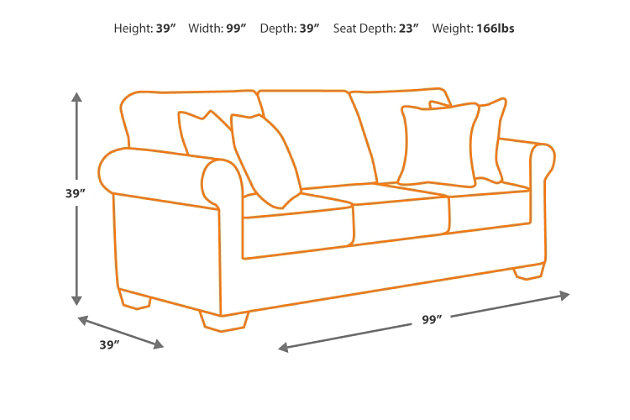 Couch Depth banner sofa | ashley furniture homestore